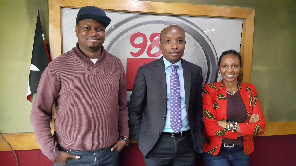 From Left to Right: Radio Presenter Maqbul Mohammed, Perminus Wainaina the Head of Recruitment at CSS and Radio Presenter Renee Ngamau